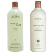 Aveda Rosemary Mint Shampoo & Conditioner Litre Duo