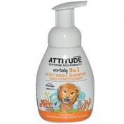 ATTITUDE, Eco-Baby 7.6cm 1, Body Wash, Shampoo and Conditioner, Pomegranate & Cherry Blossom, 10 fl oz