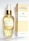 Camellia Oil 100% - Pure Cold Pressed, Organic 2oz / 60 ml. Anti Ageing, Dry Skin, Acne Scars, Stretch Marks, Hair - Unscented