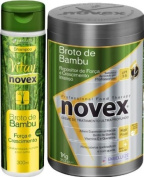 COMBO PACK - 1x Embelleze Novex Bamboo Sprout - 35.3 Oz - 1x Embelleze Novex Bamboo Sprout Shampoo - 10.14 Fl. Oz | 1x Embelleze Novex Broto de Bambu - 1Kg - 1x Embelleze Novex Broto de Bambu Shampoo - 300ml