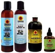 Tropic Isle Living Jamaican Black Castor Oil 4pc combo