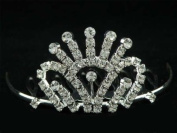 New Bridal Flower Girl Prom Party Crystal Tiara Comb 73