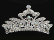 Bridal Flower Girl Prom Party Crystal Tiara Comb T42