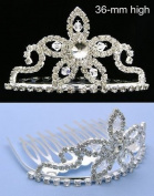 New Princess Bridal Flower Girl Crystal Tiara Comb T28