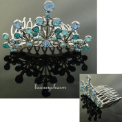 NEW PRINCESS HALLOWEEN COSTUME Crystal Crown Tiara H58