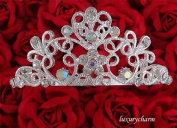 Bridal Flower Girl Prom Party Crystal Tiara Comb T16