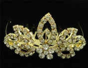New Bridal Flower Girl Prom Party Crystal Tiara Comb 61
