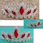 Unique Wedding Flower girl Crystal Prom Tiara Comb H91