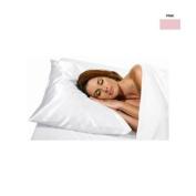 Betty Dain Satin Pillow Cover Pink, Standard