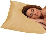 Betty Dain Satin Pillowcase, King Size, Beige