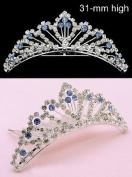 New Bridal Tiara Comb Wedding Veil. Crystal 66