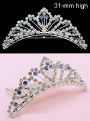 New Bridal Tiara Comb Wedding Veil. Crystal 66