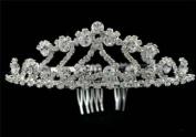 Bridal Wedding Crown Veil. Crystal Tiara T78