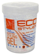 Eco Styler Styling Gel 950ml Krystal Clear (3-Pack) with Free Nail File