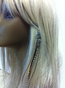 "4""-18cm Feathers for Hair Extension with 5 Natural Remix Colour Feathers for Hair Extension"