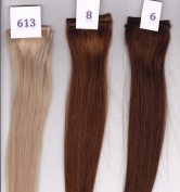 36cm Remy 100% Human Hair Clip On In Extension 5.1cm Wide Piece Colour 6 Chestnut Brown