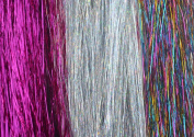 Hair Tinsel, 21 Strands, Hot Pink, Sparkling Silver, Shiny Rainbow, 7 Strands Each - FREE Hook Tool and 21 Micro Beads for Installing