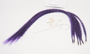 Grizzly Synthetic Feather Hair Extensions Hair New Generation Beautiful Purple Animal Print