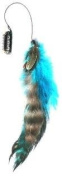 One Zhoe Full Feather Extensions Blue/aqua Hair Accessories 12839