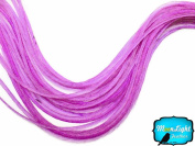 Moonlight Feather, Hair Extension Feathers - Solid Lavender - 11.5+ Inches Long - 6 Pieces
