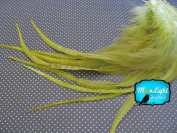 Moonlight Feather, Hair Extension Feathers; Solid Olive Thick Rooster Feathers; 29cm Long and Up; 6 Pieces Per Pack