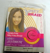 Yaky 100% Synthetic Tangle Free Silky Hair Braid Colour 2 Black 60cm Long