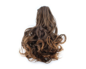 Light Brown girl lady women Clip on Ponytail Hair Wave Wigs Pony Extension Hairpiece 014B