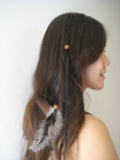 Feather Hair Extension Clip Ins Black Colour 15-41cm