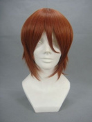 Ruler Short Axis Powers Hetalia-feliciano Vargas Red Brown Anime Cosplay Wig