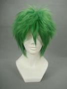 Ruler Short Law of Ueki-kosuke Ueki Green Anime Cosplay Wig