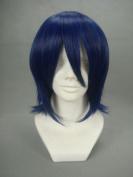 Ruler Short the Prince of Tenni-oshitari Yuushi Dark Blue Anime Cosplay Wig