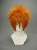 Ruler Short Vampire Knight-kain Akatsuki Orange Anime Naruto Cosplay Wig Cos-011b