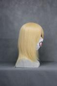 Ruler Short Umineko No Naku Koro Ni-lambdadelta Light Golden Anime Cosplay Wig