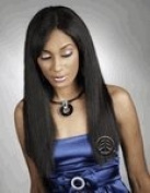 BLACK DIAMOND ONYX NATURAL ESSENCE YAKI HUMAN HAIR 25cm 1B