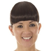 Clip - In Blunt Fringe   Hair-Like Bangs   Available in 5 Colours- Dark Chocolate