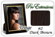 ProExtensions #2 Dark Brown Pro Fringe Clip In Bangs