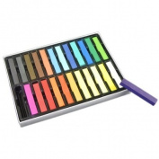 New 24pcs Nontoxic Hair Colour Chalk Temporary Dye Kit Party Hair Colour Pastel