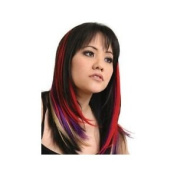 3 Piece Straight Purple, Red, Ash Blonde Clip in Human Hair Extension Streaks