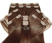 10 Pcs Full Head Heat Resistant Synthetic Clip In Hair Extensions 41cm 125 g Colour #33 Auburn