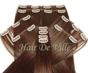 10 Pcs Full Head Heat Resistant Synthetic Clip In Hair Extensions 41cm 125 g Colour #33 Auburn