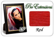 46cm Inch Red Highlight Streaks Pro Extensions Premier Human Hair Extensions