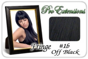 ProExtensions #1b Off Black Pro Fringe Clip In Bangs