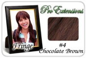 ProExtensions #4 Chocolate Brown Pro Fringe Clip In Bangs