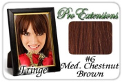 ProExtensions #6 Medium Chestnut Brown Pro Fringe Clip In Bangs