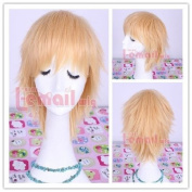 L-email 32cm Short Peach Straight Cosplay Wig Ml171