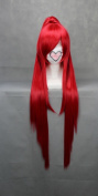 Ruler 100cm Long Gurrenlagann-yoko Red Anime Cosplay Wig+1clip on Ponytail