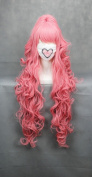 Ruler 90cm Long Vocaloid-megurine Luka Pink Anime Cosplay Wig+2clip on Ponytail