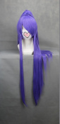 Ruler 100cm Long Vocaloid-gakupo Purple Anime Cosplay Wig+1clip on Ponytail