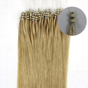2012 New Products 46cm Human Hair Extensions Remy 100s Double Silicone Rings Beads Tipped 0.6g 100s 60cm Women's Health Beauty Hot