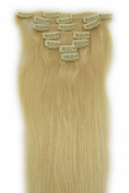 60cm Clip in Remy Human Hair Extensions 613# Bleach Blonde 7pcs 70g